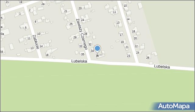 Zabrze, Zawiszy Czarnego, 36, mapa Zabrza