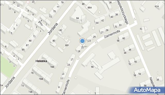 Zabrze, Zamenhofa Ludwika, dr., 21, mapa Zabrza