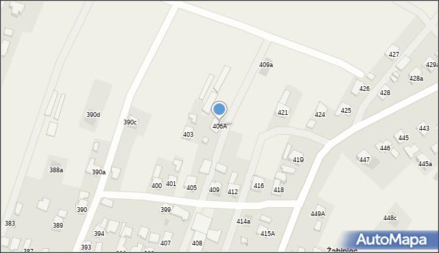 Zaczernie, Zaczernie, 406A, mapa Zaczernie