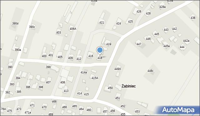 Zaczernie, Zaczernie, 418, mapa Zaczernie