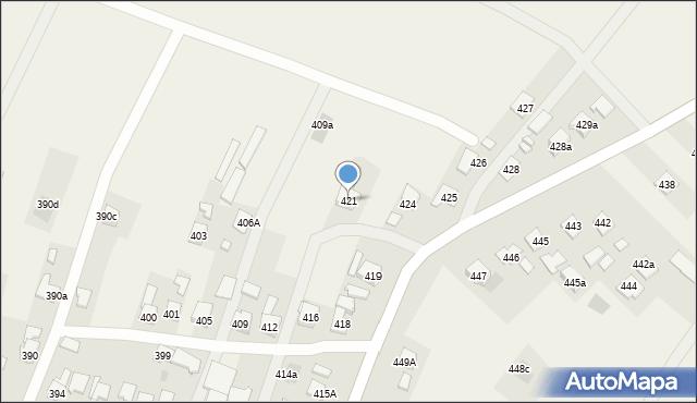 Zaczernie, Zaczernie, 421, mapa Zaczernie