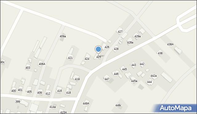 Zaczernie, Zaczernie, 425, mapa Zaczernie