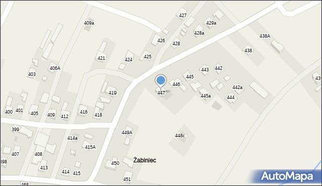 Zaczernie, Zaczernie, 447, mapa Zaczernie