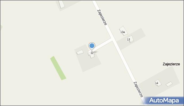 Zajezierze, Zajezierze, 12, mapa Zajezierze