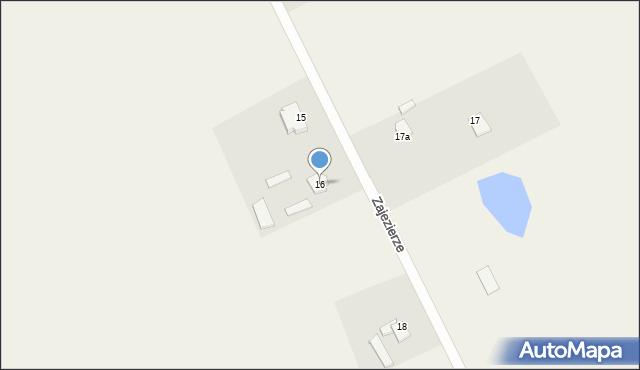 Zajezierze, Zajezierze, 16, mapa Zajezierze