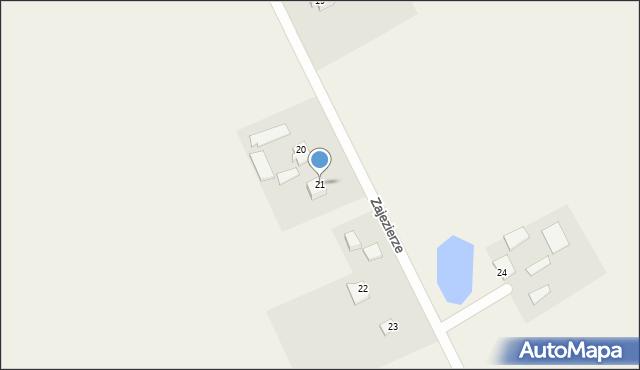 Zajezierze, Zajezierze, 21, mapa Zajezierze