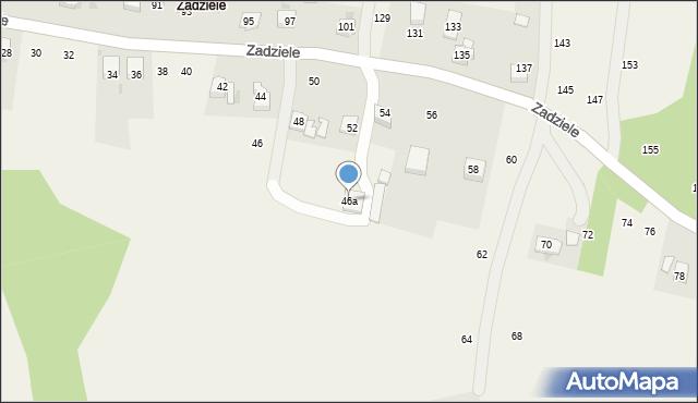Zakliczyn, Zadziele, 46a, mapa Zakliczyn