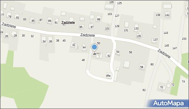 Zakliczyn, Zadziele, 48, mapa Zakliczyn