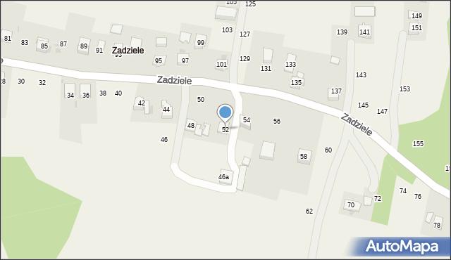 Zakliczyn, Zadziele, 52, mapa Zakliczyn