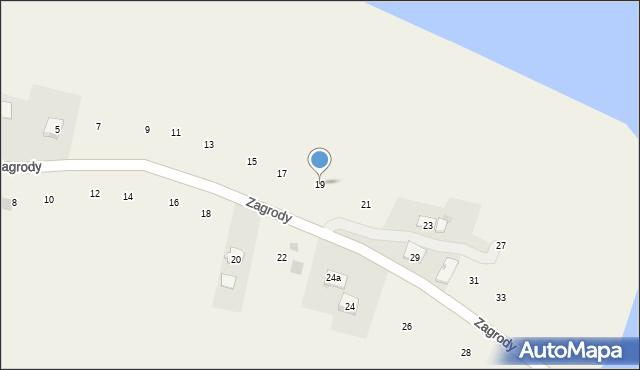 Zakliczyn, Zagrody, 19, mapa Zakliczyn