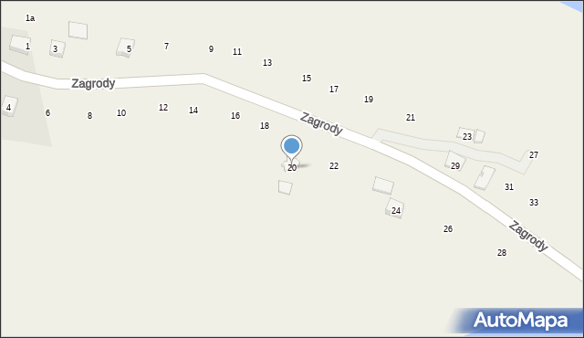 Zakliczyn, Zagrody, 20, mapa Zakliczyn