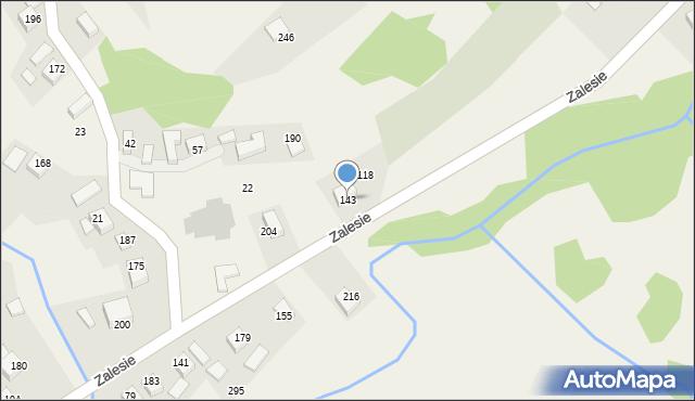 Zalesie, Zalesie, 143, mapa Zalesie