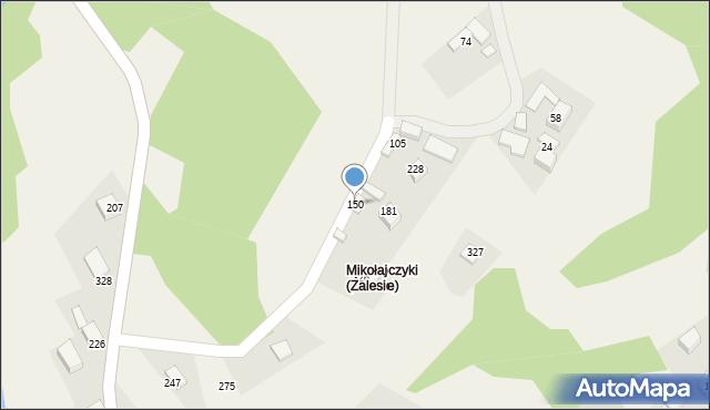 Zalesie, Zalesie, 150, mapa Zalesie