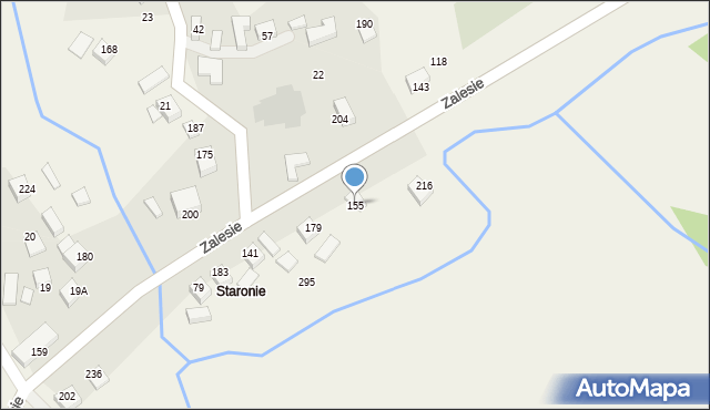 Zalesie, Zalesie, 155, mapa Zalesie