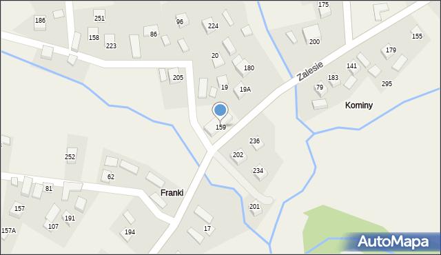 Zalesie, Zalesie, 159, mapa Zalesie