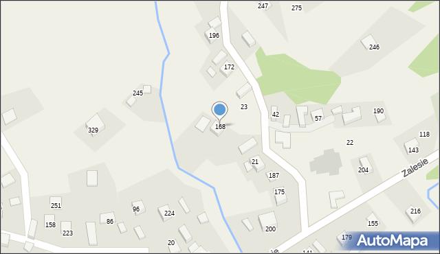 Zalesie, Zalesie, 168, mapa Zalesie