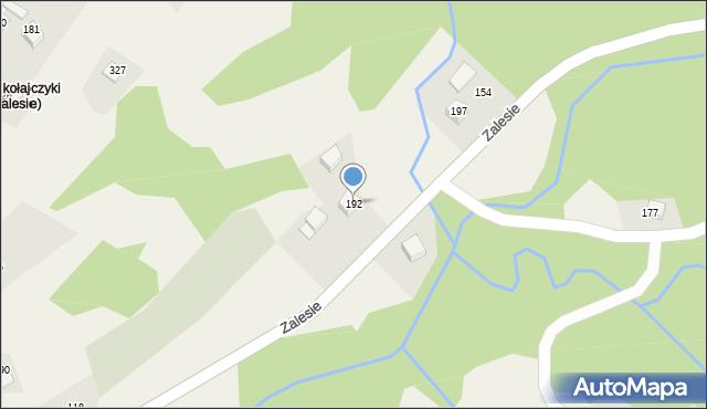 Zalesie, Zalesie, 192, mapa Zalesie