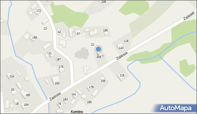 Zalesie, Zalesie, 204, mapa Zalesie