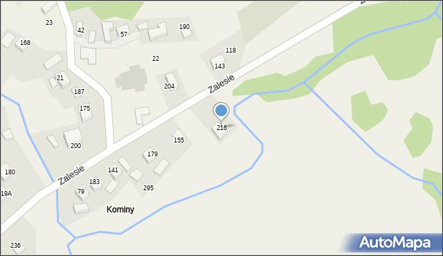 Zalesie, Zalesie, 216, mapa Zalesie