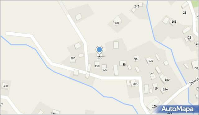 Zalesie, Zalesie, 251, mapa Zalesie