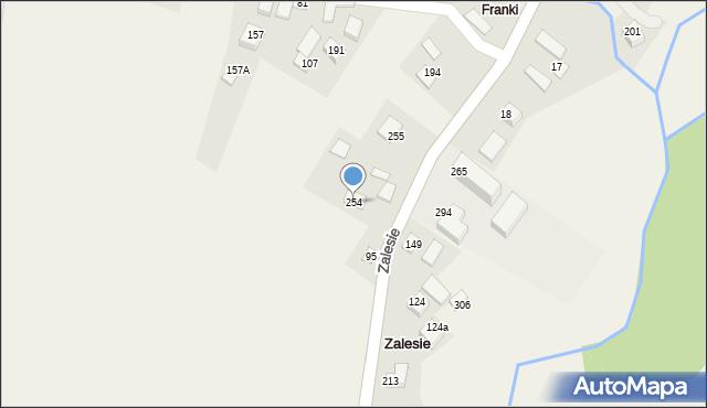 Zalesie, Zalesie, 254, mapa Zalesie