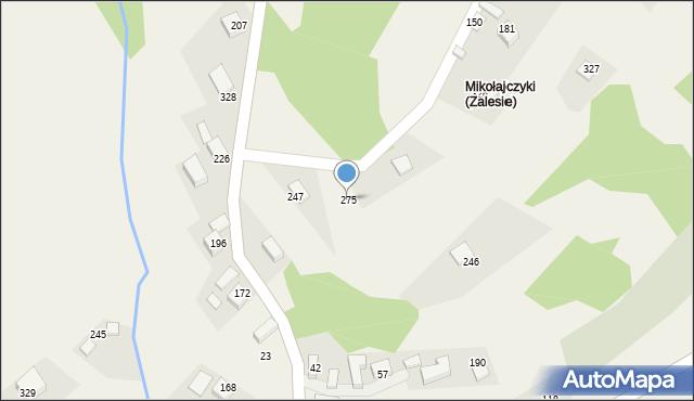 Zalesie, Zalesie, 275, mapa Zalesie