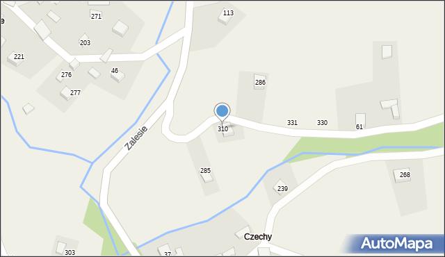 Zalesie, Zalesie, 310, mapa Zalesie