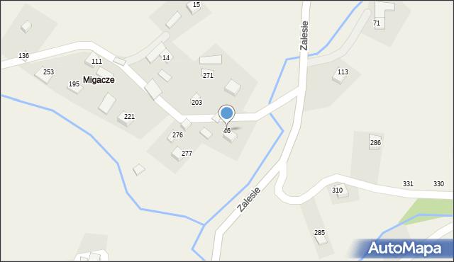 Zalesie, Zalesie, 46, mapa Zalesie