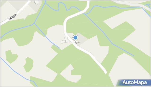 Zalesie, Zalesie, 72, mapa Zalesie