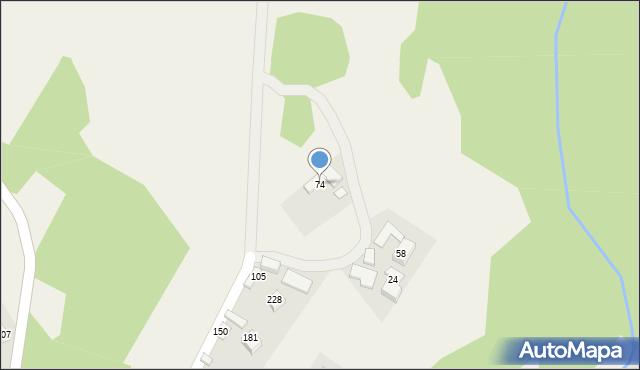 Zalesie, Zalesie, 74, mapa Zalesie