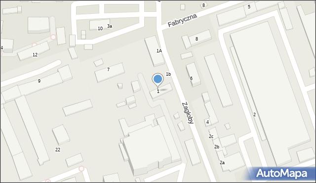 Zamość, Zagłoby Jana Onufrego, 1, mapa Zamościa