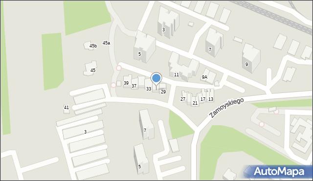 Zamość, Zamoyskiego Jana, hetm., 31, mapa Zamościa