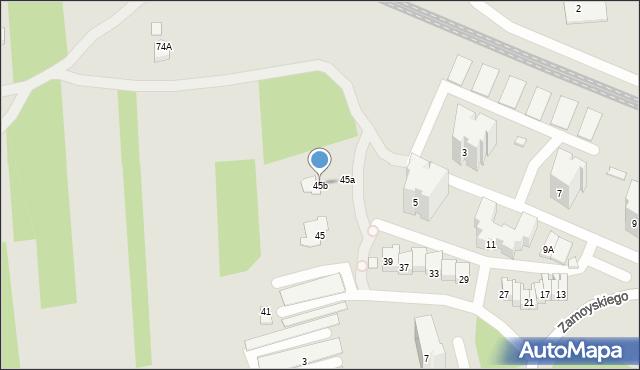 Zamość, Zamoyskiego Jana, hetm., 45b, mapa Zamościa