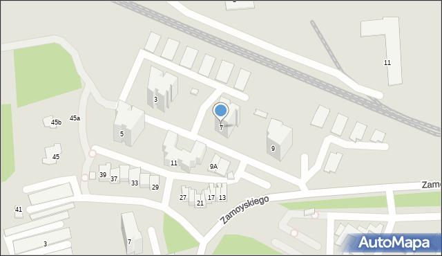 Zamość, Zamoyskiego Jana, hetm., 7, mapa Zamościa