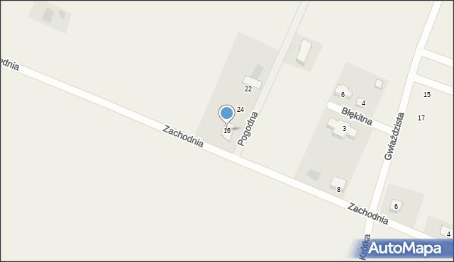 Żurawiniec, Zachodnia, 16, mapa Żurawiniec