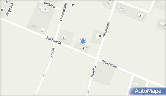 Żurawiniec, Zachodnia, 4, mapa Żurawiniec