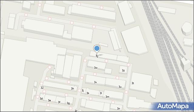 Łódź, Zbąszyńska, 3y, mapa Łodzi