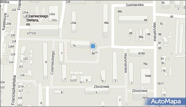 Łódź, Zbożowa, 3a, mapa Łodzi