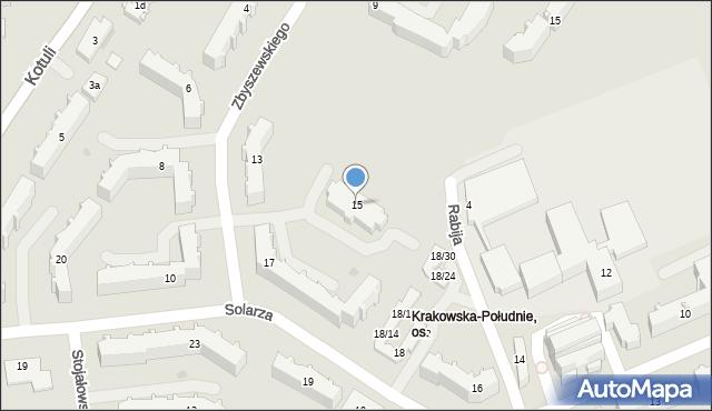 Rzeszów, Zbyszewskiego Wiktora, 15, mapa Rzeszów