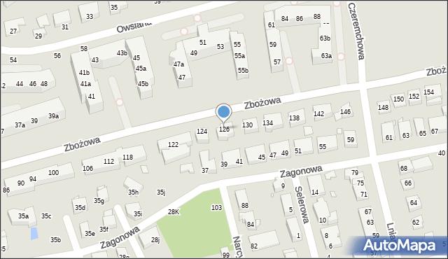 Toruń, Zbożowa, 126, mapa Torunia