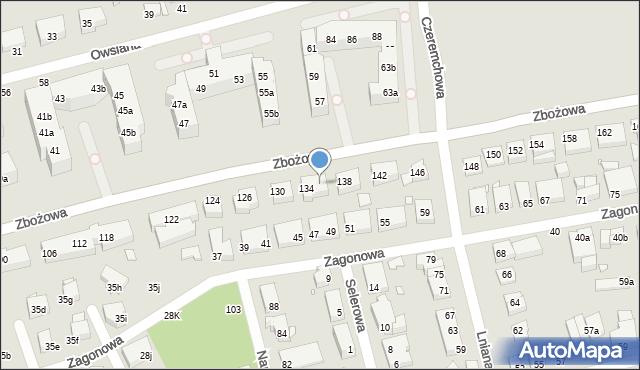 Toruń, Zbożowa, 136, mapa Torunia