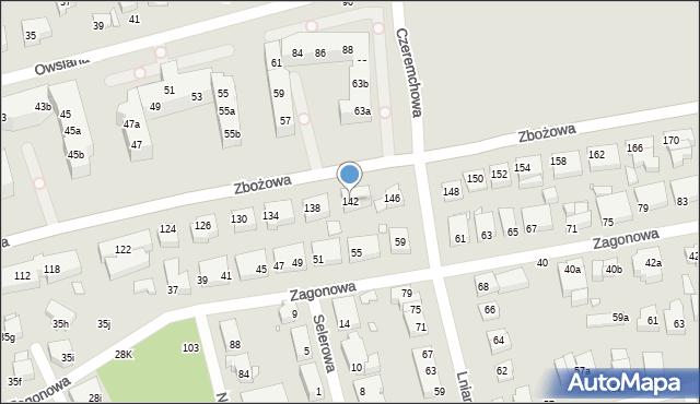 Toruń, Zbożowa, 142, mapa Torunia