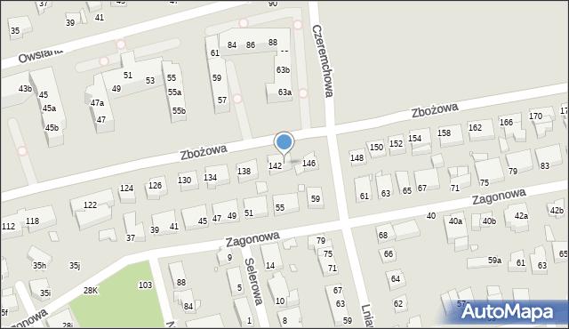 Toruń, Zbożowa, 144, mapa Torunia