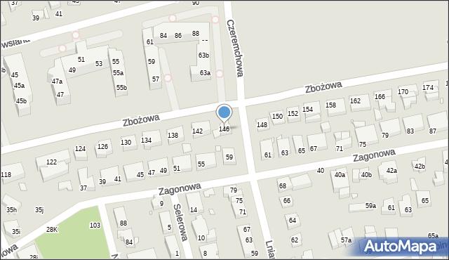 Toruń, Zbożowa, 146, mapa Torunia