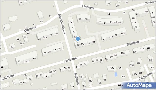 Toruń, Zbożowa, 33, mapa Torunia