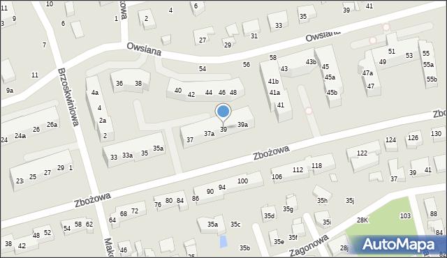Toruń, Zbożowa, 39, mapa Torunia