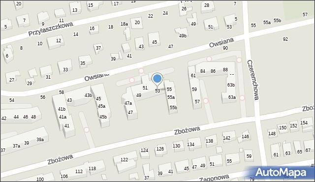 Toruń, Zbożowa, 53, mapa Torunia