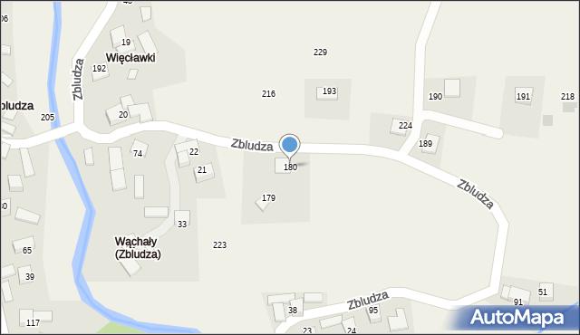 Zbludza, Zbludza, 180, mapa Zbludza