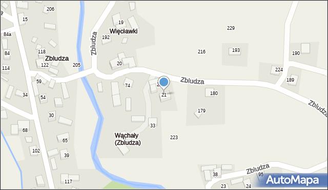 Zbludza, Zbludza, 21, mapa Zbludza