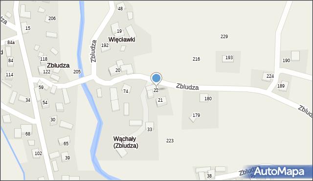 Zbludza, Zbludza, 22, mapa Zbludza